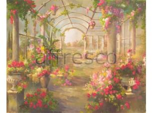 Фреска Беседка в цветах, арт. 4555