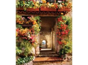Фреска Цветущий дворик, арт. 6363