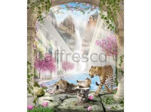 Фреска  Сад с леопардами, арт. 6424