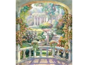 Фреска Балкон с видом на сад, арт. 4533