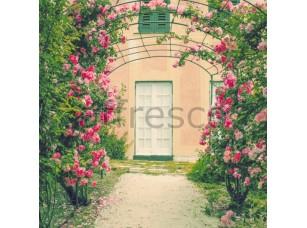 Фреска Дворик в цветах, арт. ID13406
