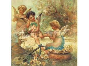 Фреска Цветы и ангелы, арт. 3238