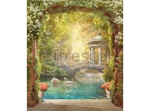 Фреска Беседка у пруда, арт. 6334