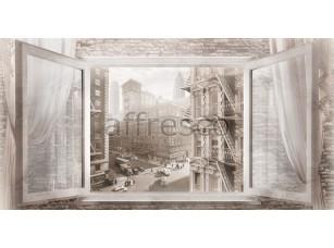 Фреска Вид из окна на город,  4967