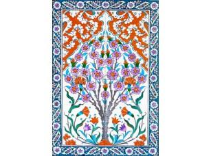Фреска Восточный орнамент с цветами, арт. ID135659
