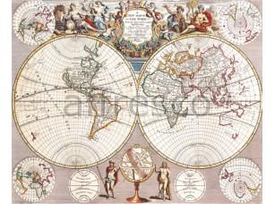 Фреска Старинный глобус, арт. 0047