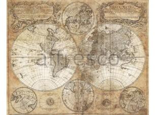 Фреска Старинная карта, арт. A0622