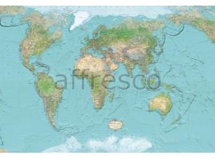 Фреска Географическая карта, арт. A0621