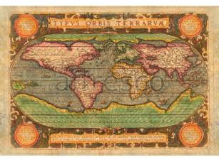 Фреска Старая карта, арт. 0067