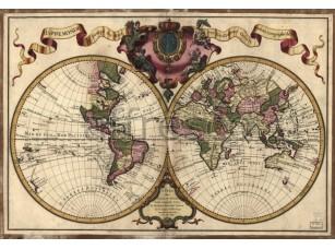 Фреска Карта мира, арт. 0072