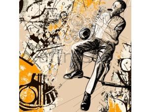 Фреска Игра на саксофоне, арт. ID10242