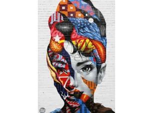 Фреска Девушка современное искусство, арт. ID135644