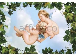 Фреска Орнаменты, потолочный сюжет с ангелочками | арт. 9142