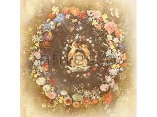 Фреска Орнаменты, ангелы в кругу цветов | арт. 5189