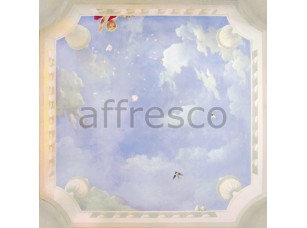 Фреска Сюжеты для потолков, небо с ангелами и птицы | арт. 9116