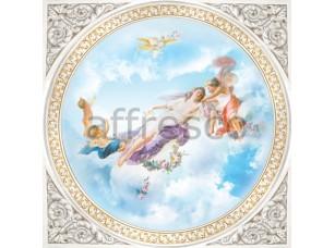Фреска Сюжеты для потолков, богиня на небе с ангелами | арт. 9163