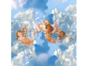 Фреска Сюжеты для потолков, ангелы в облаках | арт. 9145