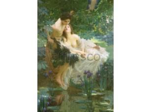 Фреска Классические сюжеты, влюбленные у пруда | арт. 3393