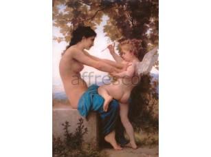 Фреска Классические сюжеты, женщина с ангелом | арт. 3187