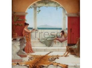 Фреска Классические сюжеты, игра на флейте | арт. 3196