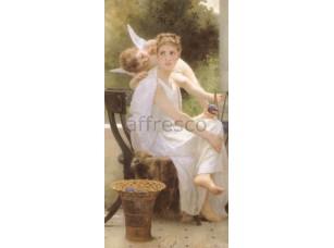 Фреска Классические сюжеты, портрет женщины с ангелом | арт. 3063