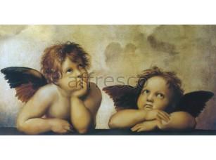 Фреска Классические сюжеты, ангелочки Рафаэля | арт. 3092