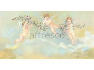 Фреска Классические сюжеты, ангелочки с веточками | арт. 3176