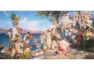 Фреска Классические сюжеты, древнегреческий сюжет | арт. 3175