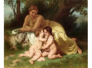 Фреска Классические сюжеты, детский поцелуй | арт. 3192