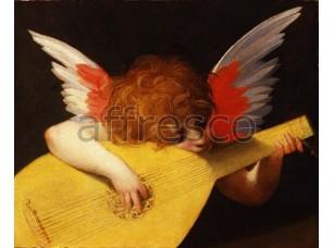 Фреска Классические сюжеты, купидон с лютней | арт. 3369