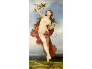 Фреска Классические сюжеты, обнаженная с птицей | арт. 3191