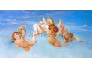 Фреска Классические сюжеты, ангелочки на небе | арт. 3178