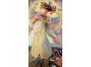 Фреска Классические сюжеты, девушка с птицами | арт. 3119