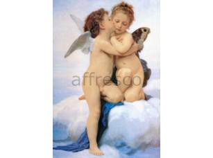 Фреска Классические сюжеты, ангелы поцелуй | арт. 3156