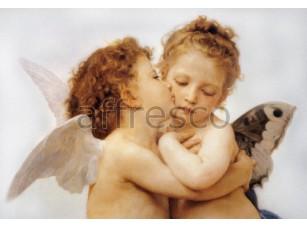 Фреска Классические сюжеты, ангелочки поцелуй | арт. 3061