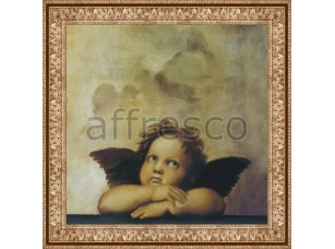 Фреска Классические сюжеты, ангелочек Рафаэля | арт. 3216