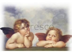 Фреска Классические сюжеты, взгляд ангелочков | арт. 3182