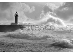 Фреска Шторм маяк, арт. ID11205