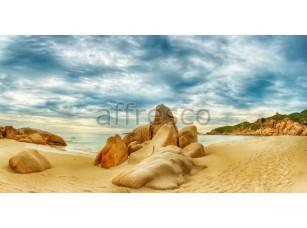 Фреска Камни на пляже у залива, арт. ID11241