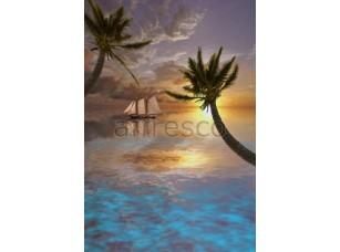 Фреска Парусник на закате, арт. ID10996