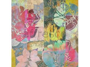 Фреска Абстракция с цветами, арт. ID10159