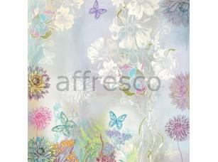 Фреска Бабочки и цветы, арт. ID13228