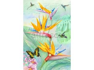 Фреска Бабочки и колибри, арт. 7238