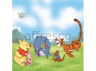Фреска Винни пух играет с друзьями | арт. 9640