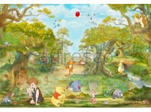 Фреска Винни пух и его друзья на поляне | арт. 9677