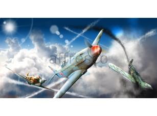 Фреска Детские, воздушный бой | арт. 9693
