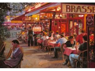 Фреска Городская романтика, вечернее кафе | арт. 3424