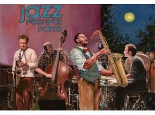 Фреска Городская романтика, джаз | арт. 3437