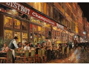 Фреска Городская романтика, вечерний ресторан | арт. 3427