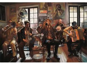 Фреска Городская романтика, джазовый оркестр | арт. 3438